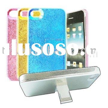 Luminant Water Drops Plated Hard Case with Stand for iPhone 4