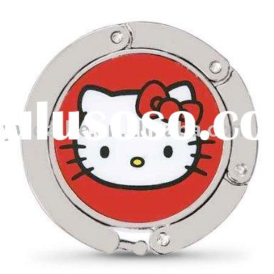 Luxe Link Foldable Purse Hook Handbag Hanger with Hello Kitty 1800382