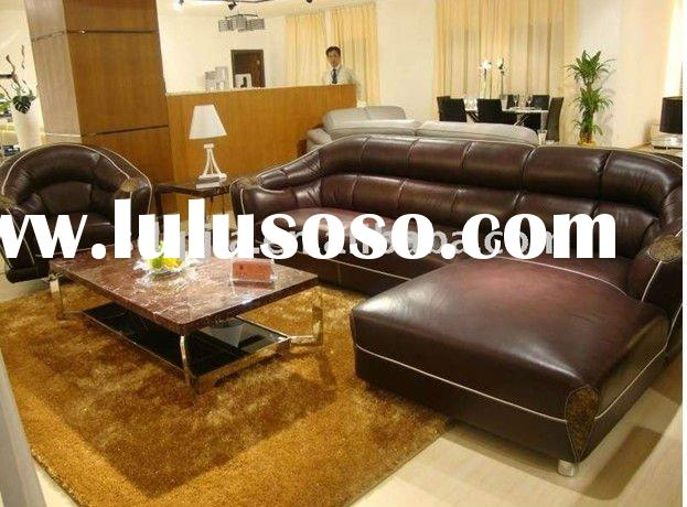 Luxury American Style Hotel room genuine leather vintage traditional furniture