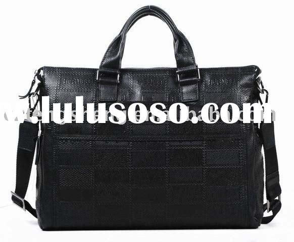 MOQ1-Genuine Cowhide Leather Laptop Briefcase For Men No.3852-1