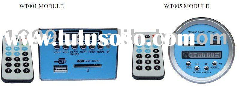 MP3 module with remote control and LCD,FM