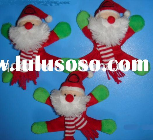 Magnet Plush Toy Magnetic Plush Toy Plush Magnet Christmas Toy Mini Plush Magnet Santa Claus Toy
