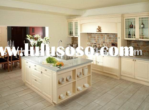 Modern design shaker style white solid wood kitchen cabinet