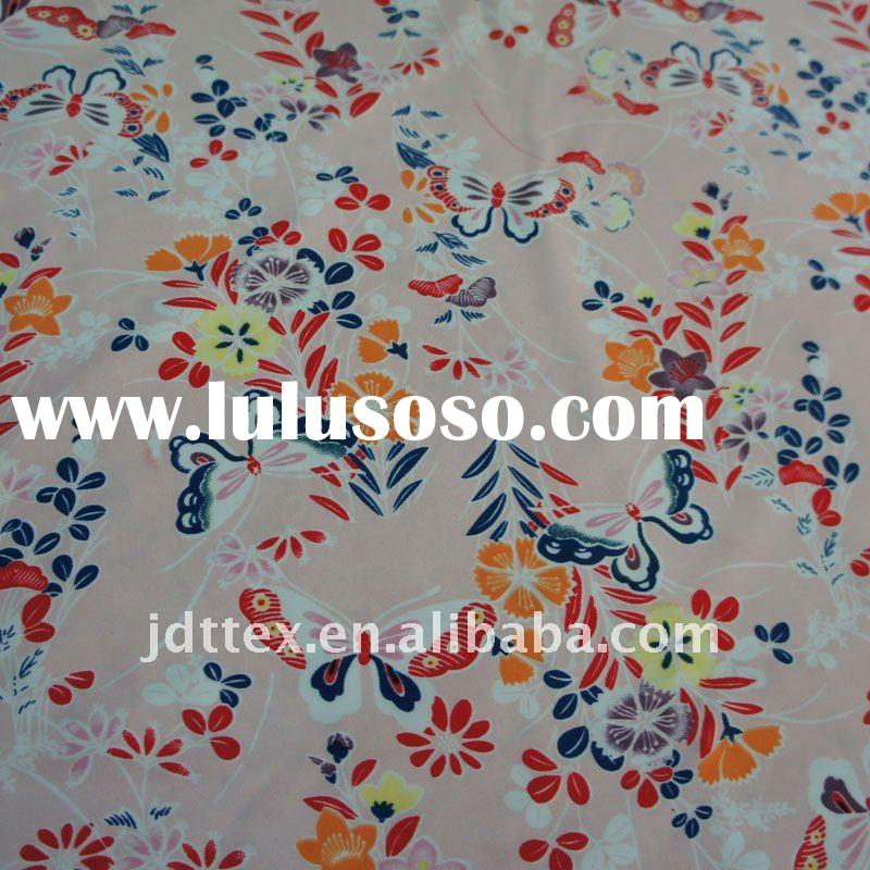 New 4-Way Stretch Flower Printed Spandex Fabric For Sale