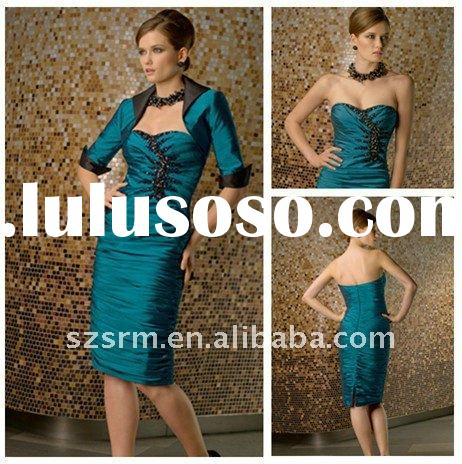 New Dsign Strapless knee length mother of the bride dresses 2012