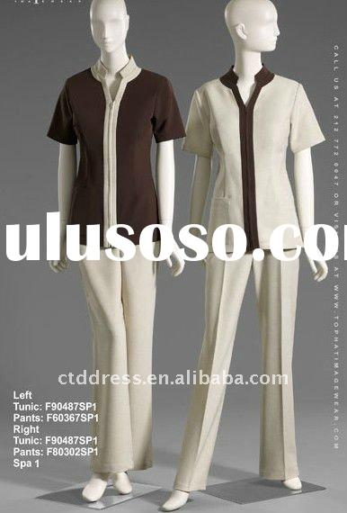 New style spa uniform spa dress tunics by ctd for sale for Spa uniform supplier in singapore