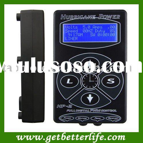 Newest design tattoo power supply - Hurricane Digital Tattoo Machine Gun Power Supply Clipcord Foots