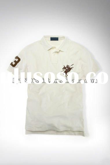 OEM Promotional Logo 100% Cotton Pique T Shirt and Polo T Shirt for Men