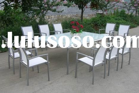 Outdoor Alum Dining Table Set