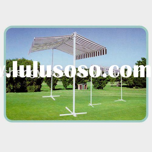 Outdoor gazebo retractable awning