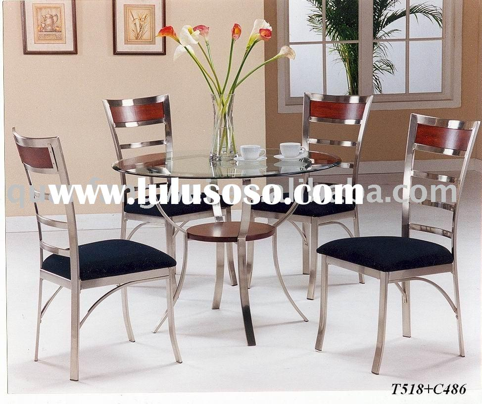 Painted Metal Dining Room Furniture Dining Set T518