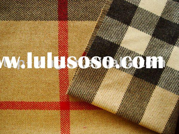Plaid wool fabric/woolen fabric
