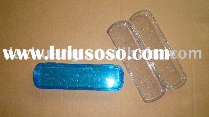 Plastic pen pencil box case