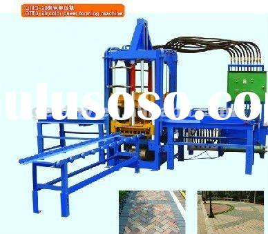 QTF3-20 automatic paver cement brick machinery in LINYI