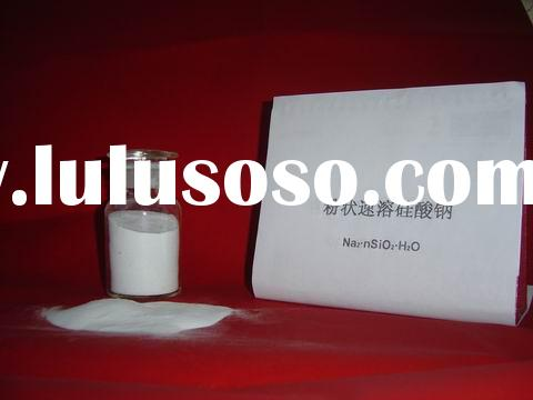 Quick-dissolving sodium silicate powder