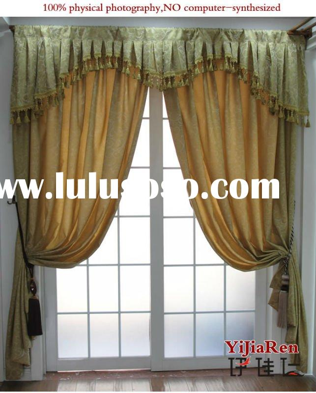 RC13099 100% Polyester printed design living room curtains