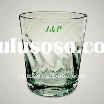 Recycle green old fashion glass/drinkware/glassware