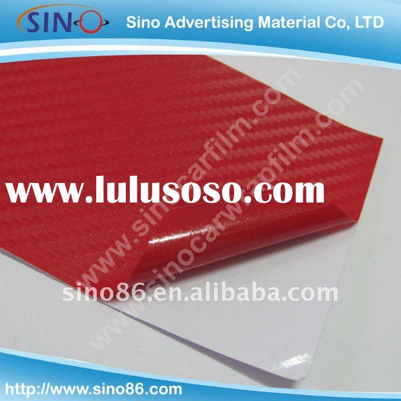 Red 3D carbon fiber auto car body cover wrapping sticker