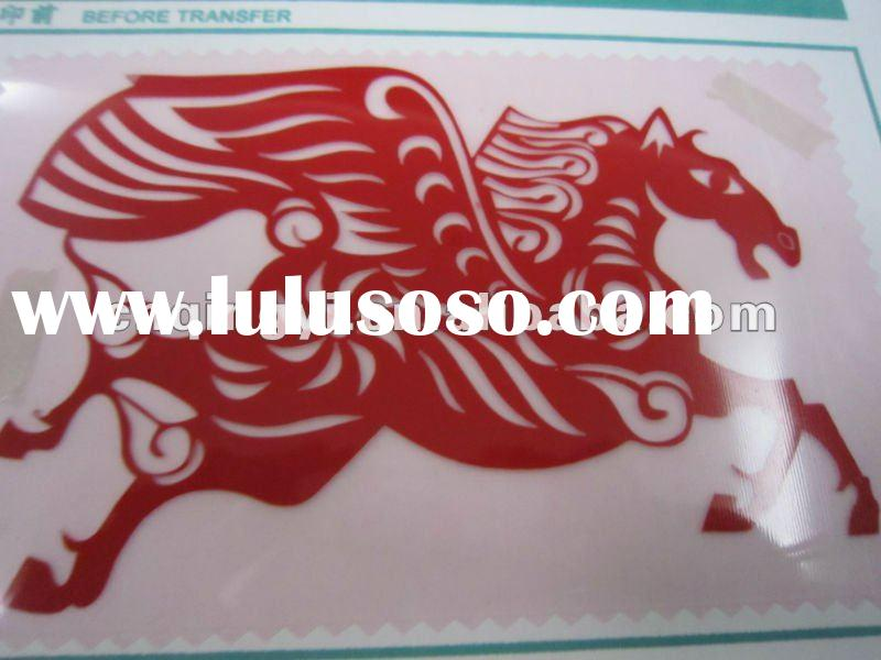 Red color heat transfer vinyl for textile