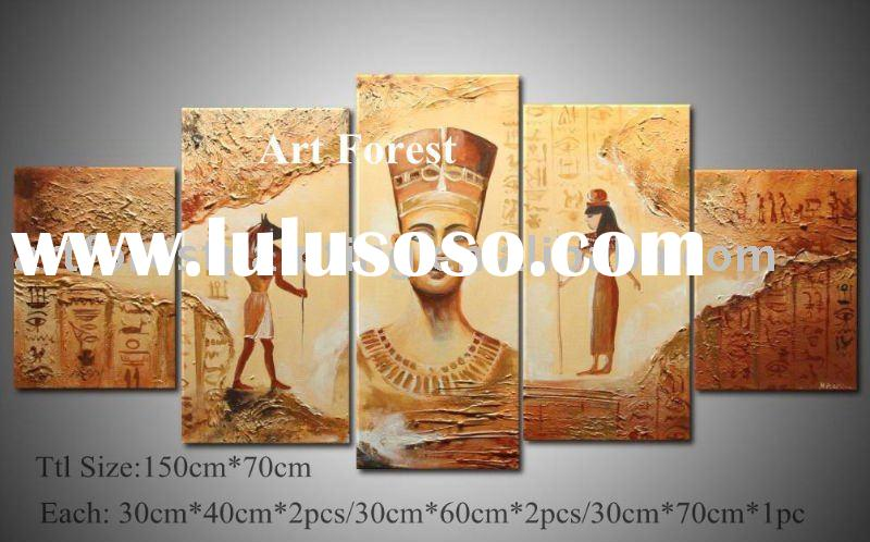 Religion Oil Canvas Painting with stretchers 5 pieces as a set