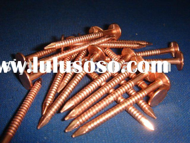 Ring shank copper nails