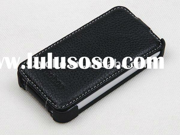 Slim leather case for iphone 4