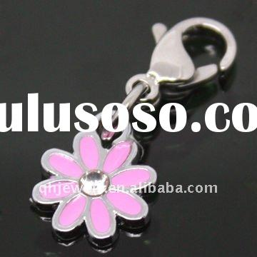 Stainless steel flower enamel charms