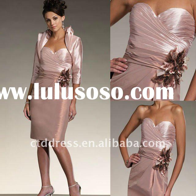 Stunning halter-strap chiffon heavy beaded mother suit mother gown CTD