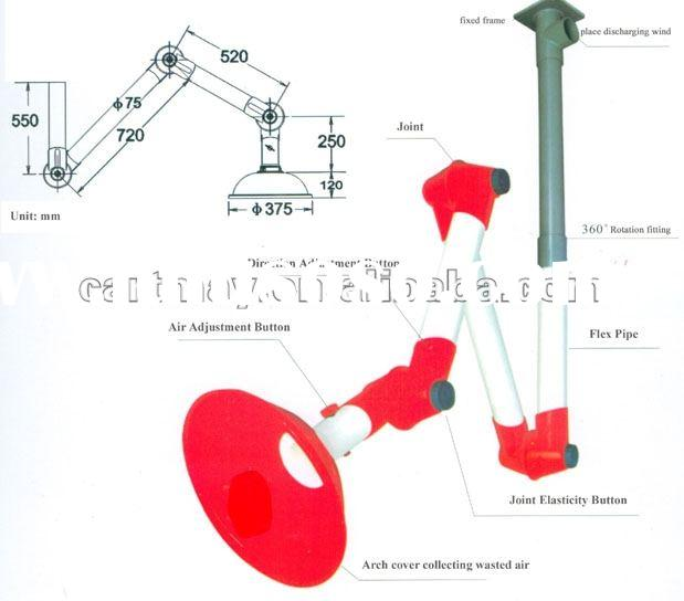 Three joint fume extractor