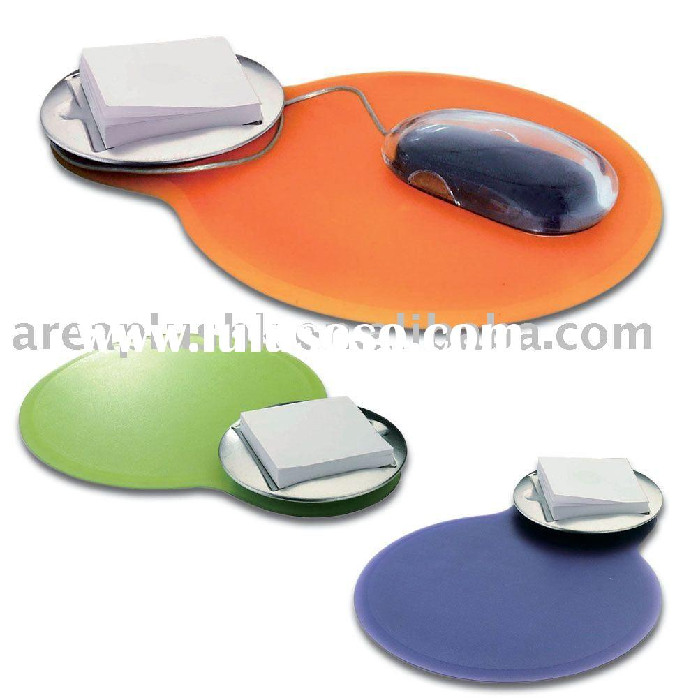 Triple-3-in-1 mouse pad, memo holder and mouse-cable-Fixer