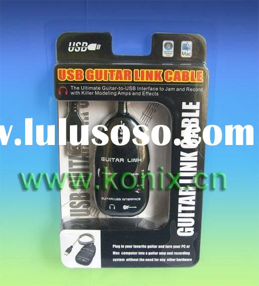 USB Guitar link cable/Guitar recording equipment/ Electric Guitar Accessory/ Guitar recording gear