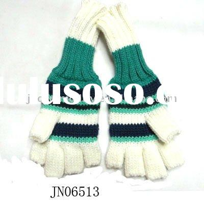 Winter Fashion Acrylic Knitted Half Finger Gloves