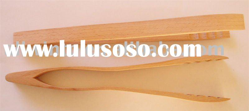 Wooden large grill tong