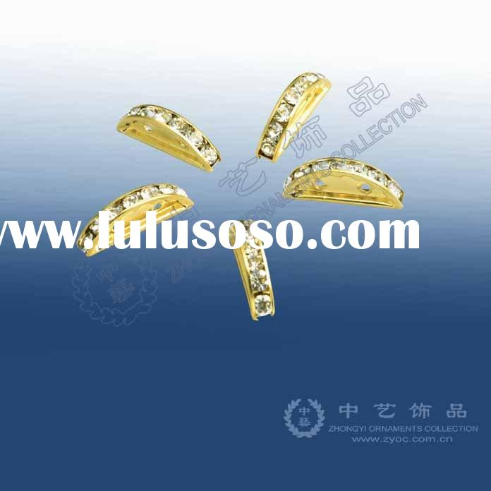 (P3-02) Rhinestone spacer, jewelry findings & components
