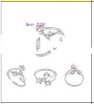(YB-XPR001)2012 18KGP new fashionable ring settings without stones