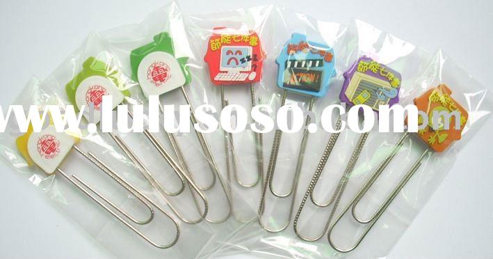 (customized/OEM)lovely Promotional gifts Soft pvc Paper clip