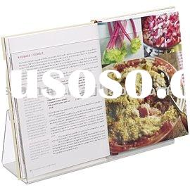 acrylic cookbook stand,acrylic book holder&display,clear recipe book holder