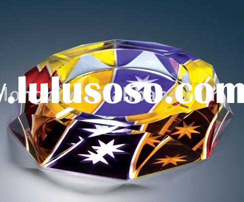 ashtray,crystal smoking accessory,crystal promotional gifts