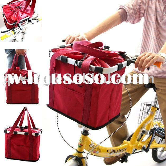 bicycle shopping bag,tote bag ,folding bag,folding basket