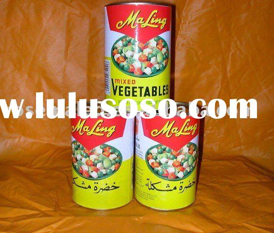 canned mixed vegetable food in China