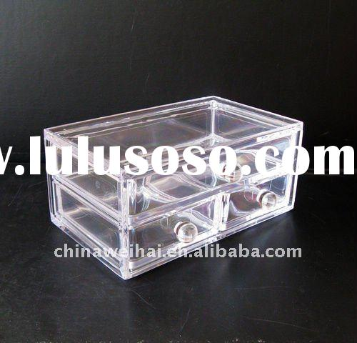 clear transparent acrylic cosmetic drawers organizer