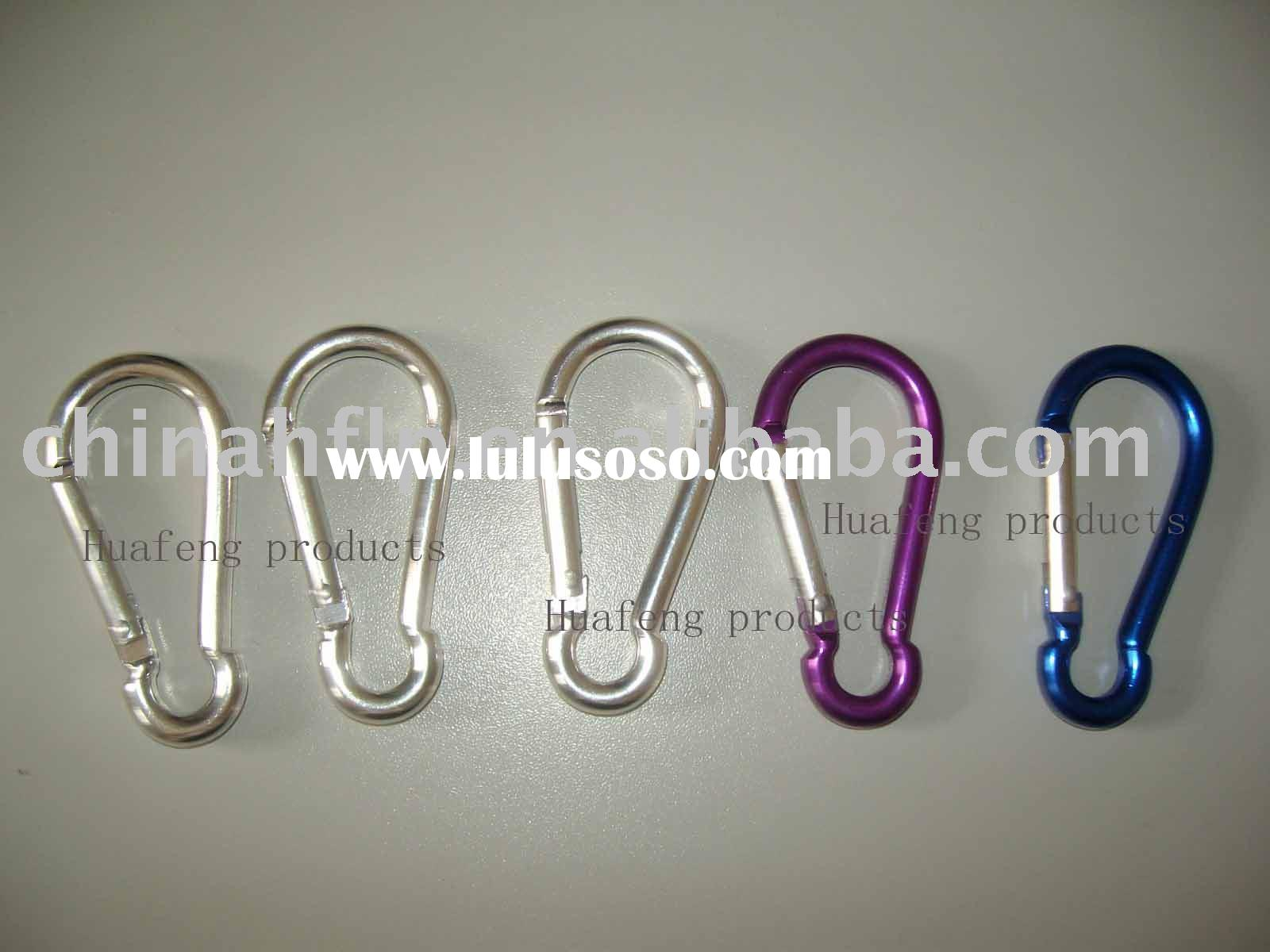 colored ss aluminum carabiner spring snap hook