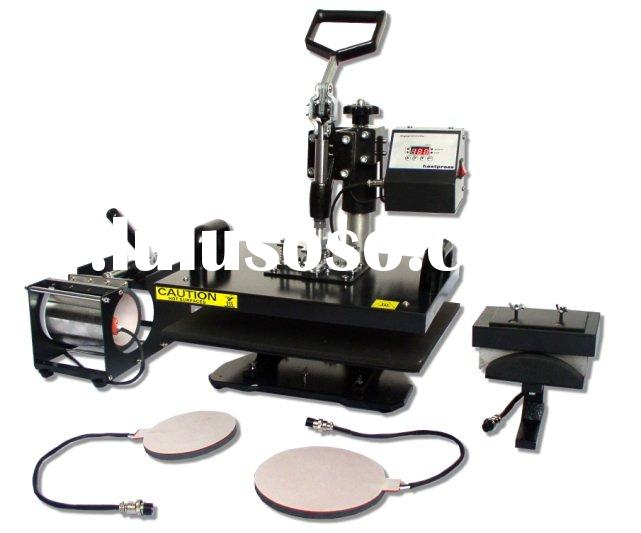 combo heat press machine(printing for t-shirt,caps,plates,mugs and so on)