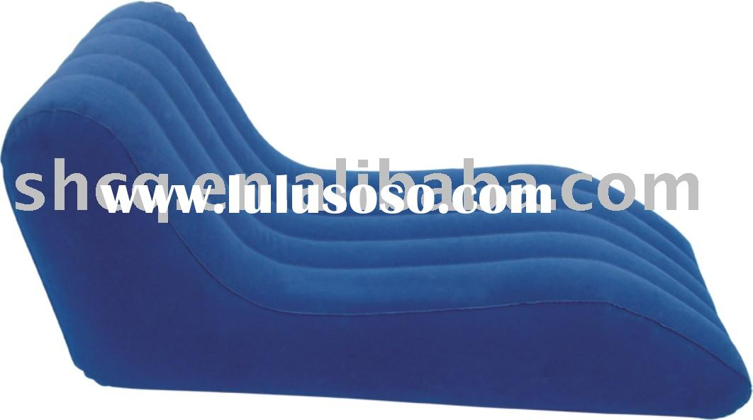 comfortable inflatable flocked air lounge sofa