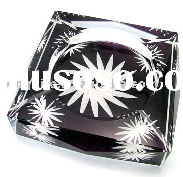 crystal portable ashtray,hotels smoking accessory,crystal promotional gifts