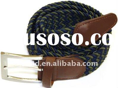 fashion fabric elastic casual woven flat belts discount store items