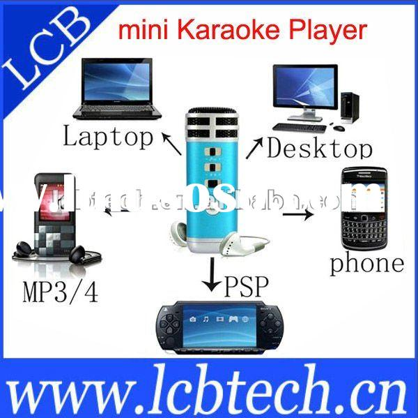 fashion mini karaoke player suitable for your laptop ,phone ,mp3,mp4