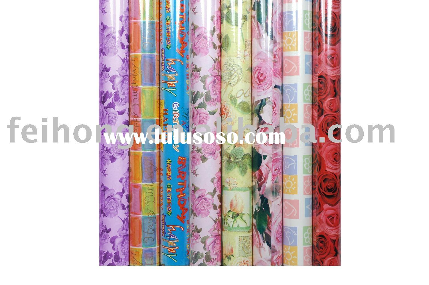 gift wrapping paper for (wedding,birthday,baby,embossed)