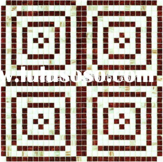 glass mosaic pictures pattern for bathroom, swimming pool