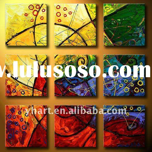 handmade abstract canvas painting